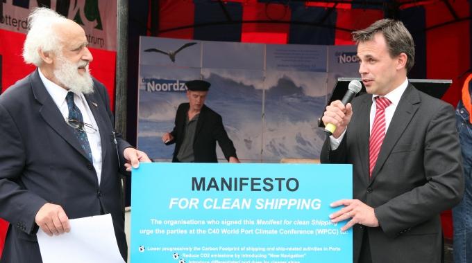 Milieuorganisaties roepen in manifest op tot schonere havens en scheepvaart
