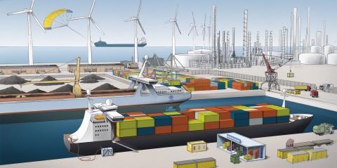 Rotterdamse haven gaat schone schepen belonen