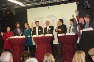 Eerste verkiezingsdebat tijdens de Groeneconferentie