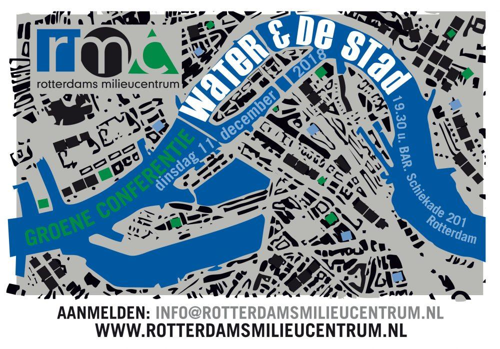 Groeneconferentie 'water en de stad' op dinsdag 11 december